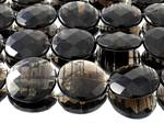Lamellenobsidian facettierte Button XL Kettenstrang